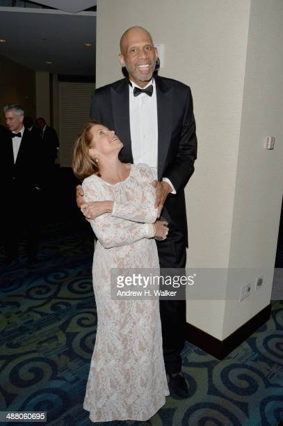 Katie Couric and Kareem AbdulJabbar attend the Yahoo News/ABCNews PreWhite House Correspondents' dinner reception preparty at Washington Hilton on...