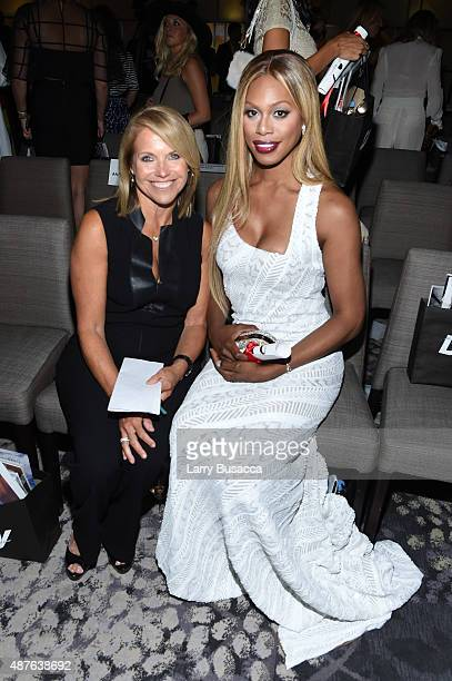 Katie Couric and Laverne Cox attend The Daily Front Row's Third Annual Fashion Media Awards at the Park Hyatt New York on September 10 2015 in New...