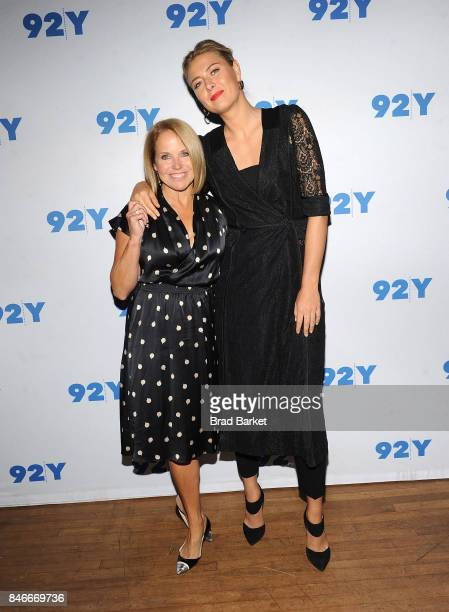 Katie Couric and Maria Sharapova attend Maria Sharapova in conversation with Katie Couric at 92nd Street Y on September 13 2017 in New York City