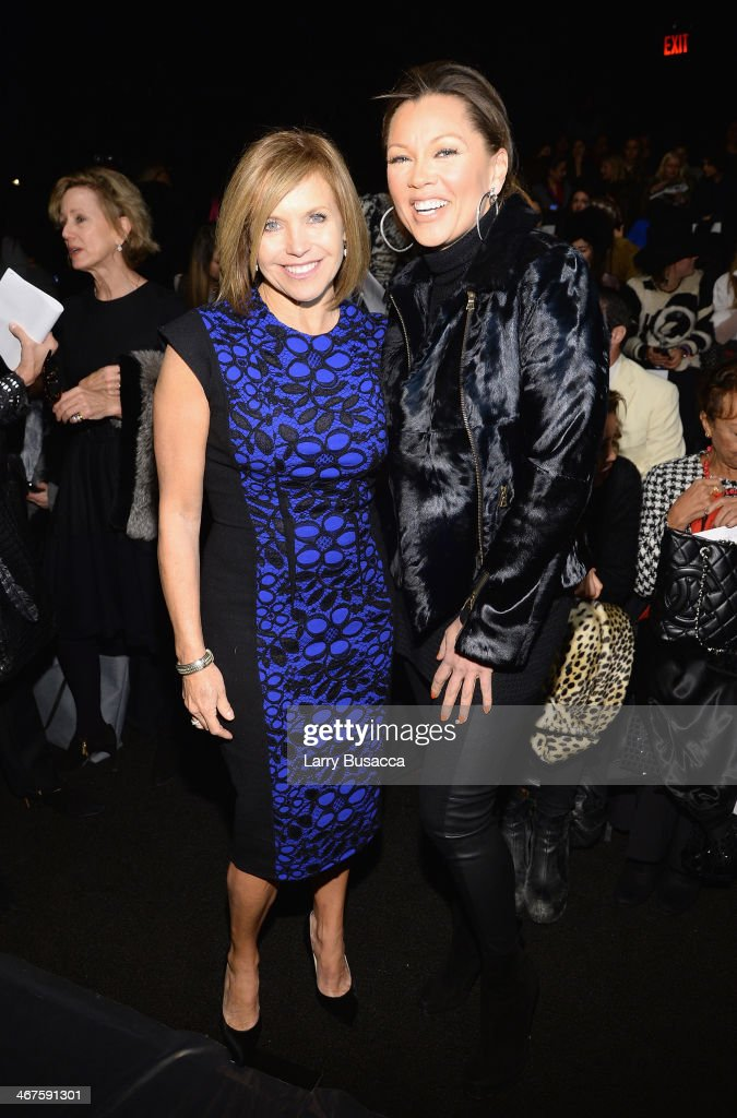 <a gi-track='captionPersonalityLinkClicked' href=/galleries/search?phrase=Katie+Couric&family=editorial&specificpeople=202633 ng-click='$event.stopPropagation()'>Katie Couric</a> (L) and Vanessa Williams attend Carmen Marc Valvo fashion show during Mercedes-Benz Fashion Week Fall 2014 at The Salon at Lincoln Center on February 7, 2014 in New York City.
