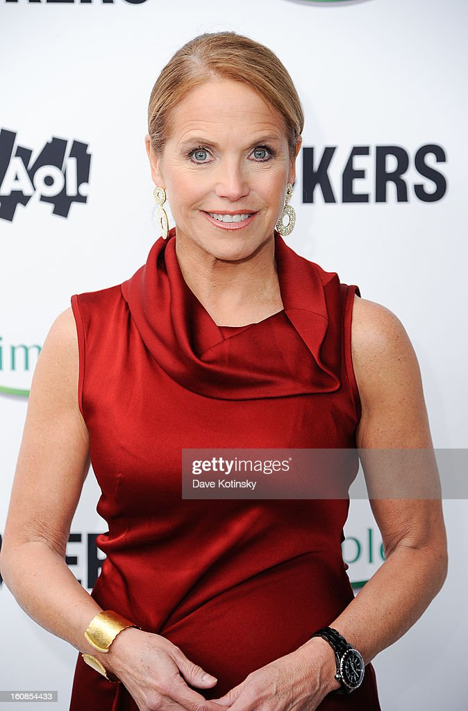 Katie Couric arrives at 'MAKERS: Women Who Make America' New York Premiere at Alice Tully Hall on February 6, 2013 in New York City.