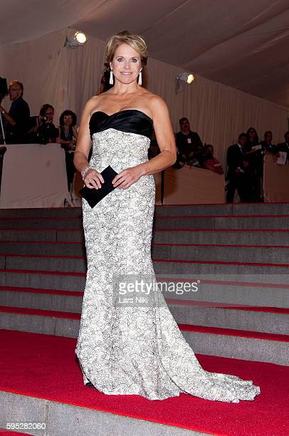 Katie Couric attends 'American Woman Fashioning A National Identity' Costume Institute Gala at The Metropolitan Museum of Art in New York City