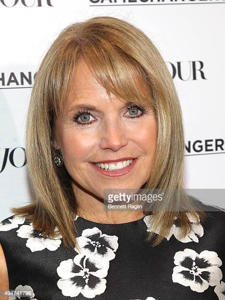 Katie Couric attends as Jason Binn Nicole Vecchiarelli and Kevin Ryan celebrate DuJour Magazine's Special Gamechangers issue on October 28 2015 in...