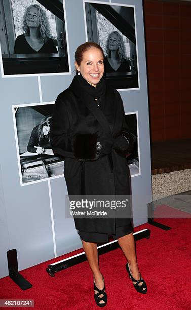 Katie Couric attends 'Beautiful The Carole King Musical' Broadway Opening Nigh at Stephen Sondheim Theatre on January 12 2014 in New York City