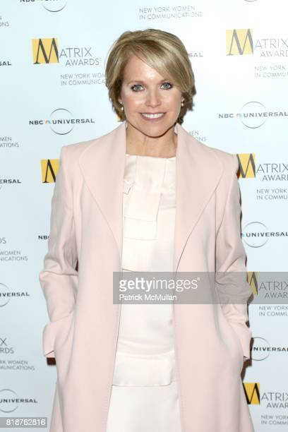Katie Couric attends New York WOMEN IN COMMUNICATIONS Presents The 2010 MATRIX AWARDS at Waldorf Astoria on April 19 2010 in New York City