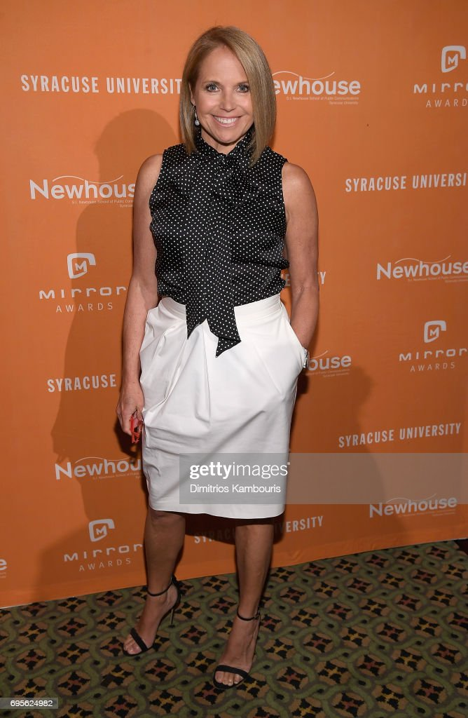 Katie Couric attends The 2017 Mirror Awards at Cipriani 42nd Street on June 13, 2017 in New York City.