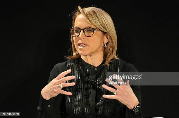 Katie Couric attends the AOL MAKERS Conference at Terranea Resort on February 1 2016 in Rancho Palos Verdes California