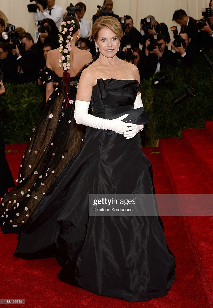 Katie Couric attends the 'Charles James: Beyond Fashion' Costume Institute Gala at the Metropolitan Museum of Art on May 5, 2014 in New York City.