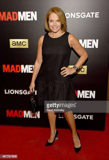 Katie Couric attends the 'Mad Men' New York Special Screening at The Museum of Modern Art on March 22 2015 in New York City