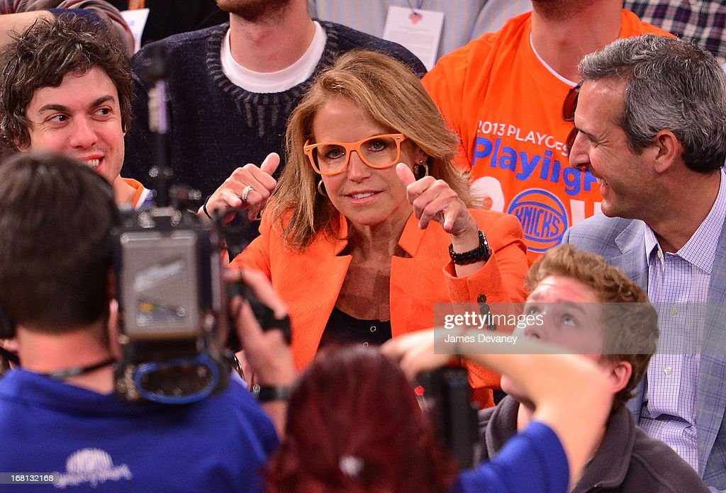 Katie Couric attends the New York Knicks vs Indiana Pacers NBA playoff game at Madison Square Garden on May 5, 2013 in New York City.