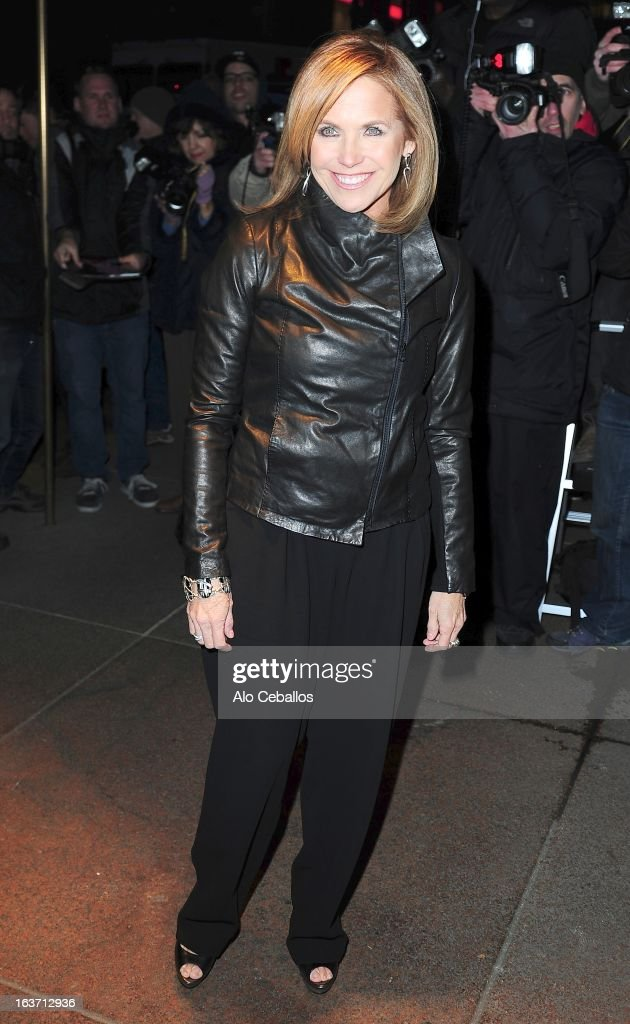 Katie Couric attends The New York Observer 25th Anniversary Party at the Four Seasons Restaurant on March 14, 2013 in New York City.
