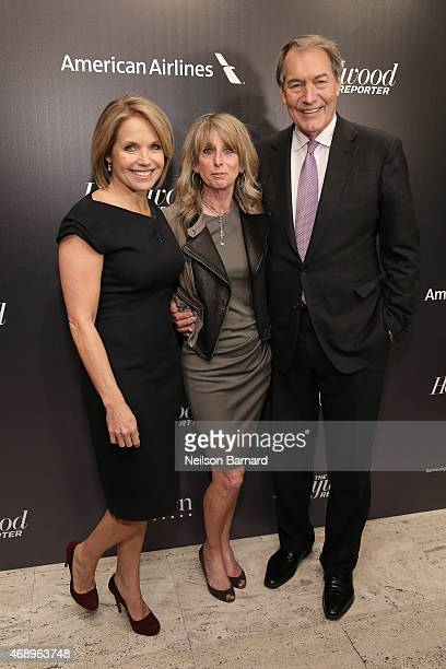 Katie Couric Bonnie Hammer and Charlie Rose attend 'The 35 Most Powerful People In Media' celebrated by The Hollywoood Reporter at Four Seasons...
