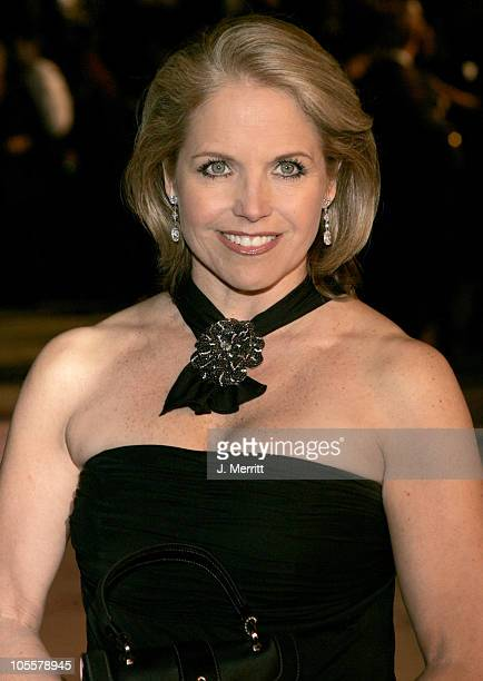 Katie Couric during 2005 Vanity Fair Oscar Party at Mortons in Los Angeles California United States
