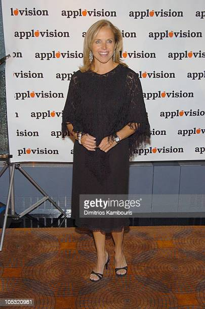Katie Couric during Applevision Hosts Party for 'Favorite NY Things To Do' at Rainbow Room in New York City New York United States