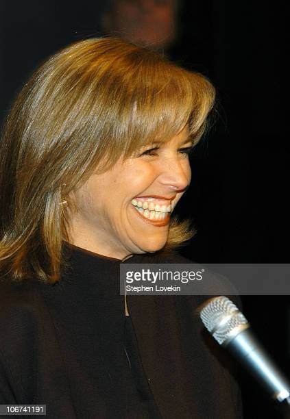 Katie Couric during Olympus Fashion Week Fall 2004 Katie Couric Attends Fashion Week to Encourage Fashion Industry Support of EIF's National Color at...