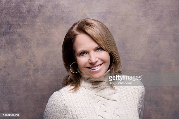Katie Couric from the film 'Under The Gun' poses for a portrait at the 2016 Sundance Film Festival on January 25 2016 in Park City Utah CREDIT MUST...