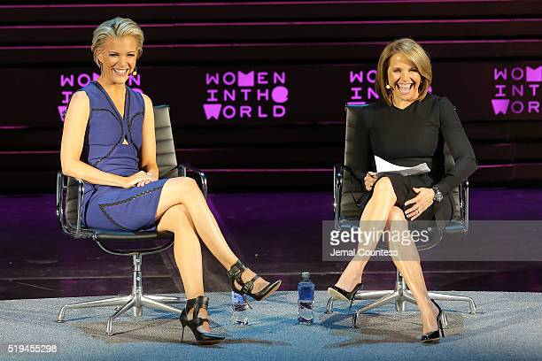 Katie Couric interivews Megyn Kelly onstage at Tina Brown's 7th Annual Women In The World Summit Opening Night at David H Koch Theater at Lincoln...