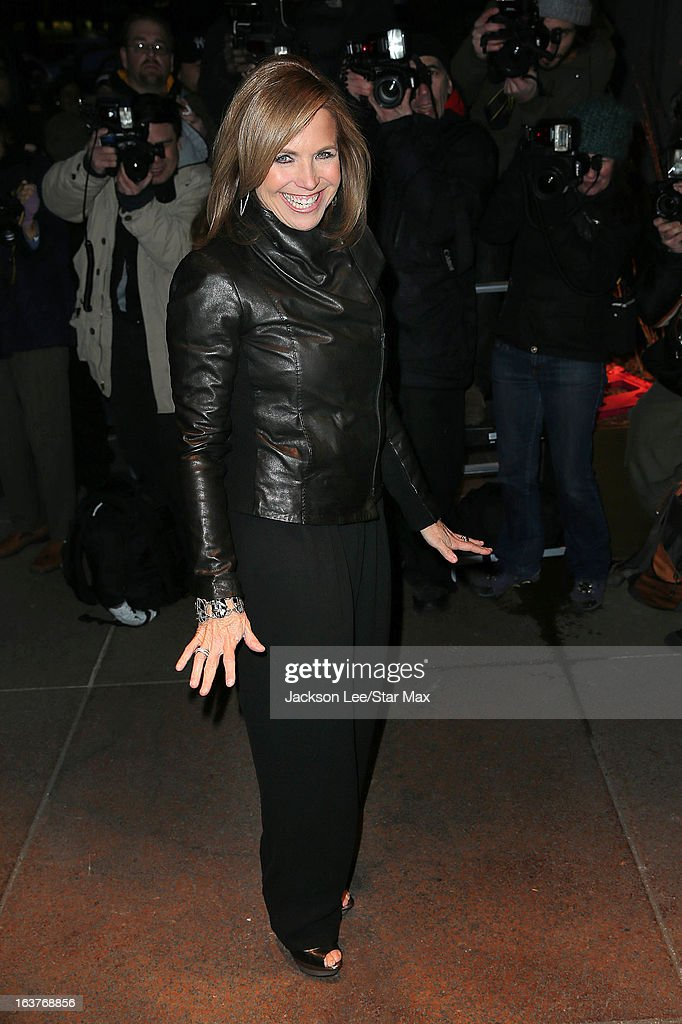 <a gi-track='captionPersonalityLinkClicked' href=/galleries/search?phrase=Katie+Couric&family=editorial&specificpeople=202633 ng-click='$event.stopPropagation()'>Katie Couric</a> is seen on March 14, 2013 in New York City.