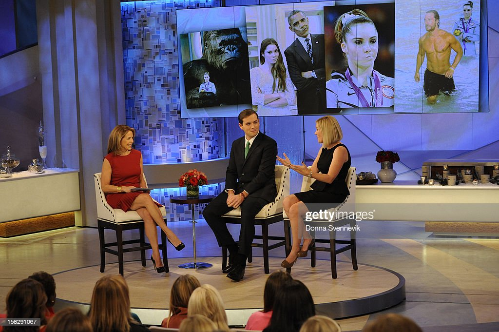 KATIE - Katie Couric looked to Facebook, with its one billion users and status as the world's most popular social media platform, to find out what people were really talking about in 2012. The year in review airs on KATIE, on WEDNESDAY, DEC. 12, distributed by Disney-ABC Domestic Television. (Photo by Donna Svennevik/Disney-ABC via Getty Images) KATIE COURIC, LUKE RUSSERT, KATE ARONOWITZ