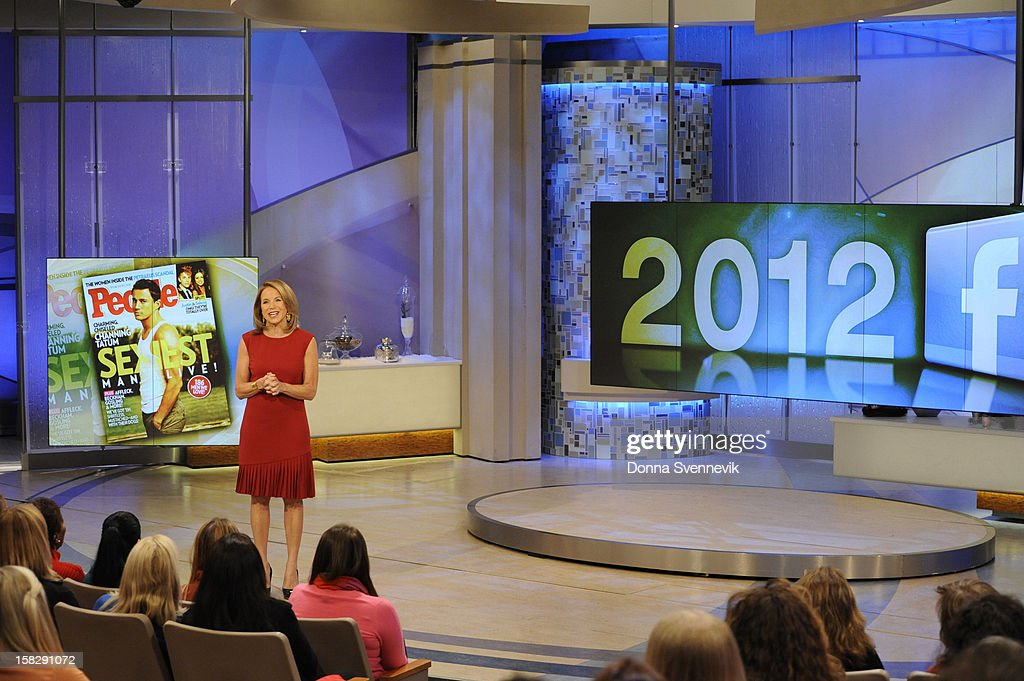 KATIE - Katie Couric looked to Facebook, with its one billion users and status as the world's most popular social media platform, to find out what people were really talking about in 2012. The year in review airs on KATIE, on WEDNESDAY, DEC. 12, distributed by Disney-ABC Domestic Television. (Disney-ABC/ Donna Svennevik) KATIE