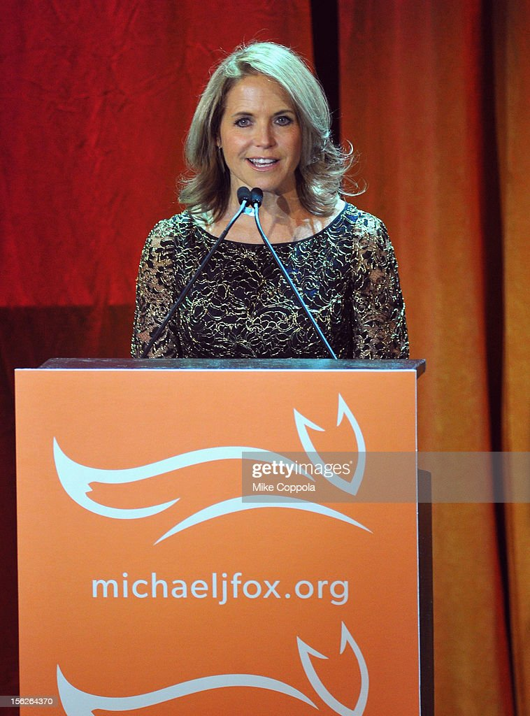 <a gi-track='captionPersonalityLinkClicked' href=/galleries/search?phrase=Katie+Couric&family=editorial&specificpeople=202633 ng-click='$event.stopPropagation()'>Katie Couric</a> presents onstage at the 2012 A Funny Thing Happened On The Way To Cure Parkinson's event at The Waldorf=Astoria on November 10, 2012 in New York City benefitting The Michael J. Fox Foundation for Parkinson's Research.