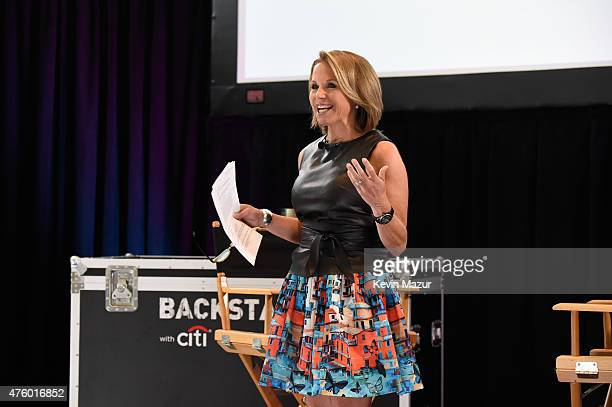 Katie Couric speaks onstage during Backstage with Citi John Legend Katie Couric at Citibank on June 4 2015 in Long Island City New York