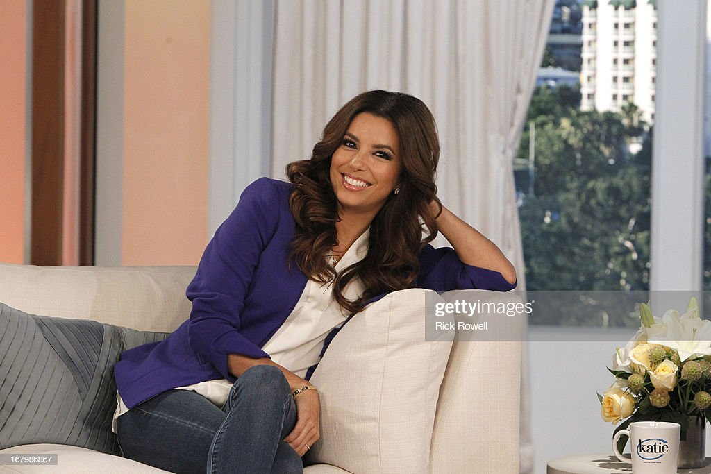 KATIE - 5/7/13 - Katie Couric takes on Hollywood for a week-long series of programs airing on KATIE, from May 6 to May 10, distributed by Disney-ABC Domestic Television. Eva Longoria talks about life after Wisteria Lane, and she and Katie whip up a little margarita madness on May 7. (Photo by Rick Rowell/Disney-ABC via Getty Images) EVA