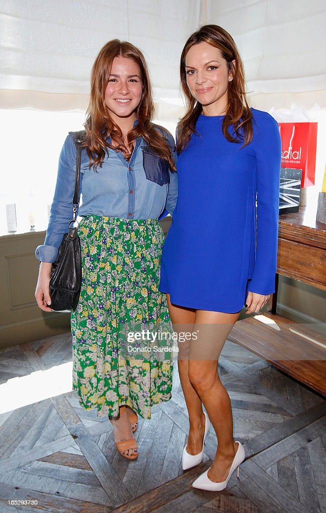 Katie Danza of Zoe Report (L) and Founder of Rodial Skincare Maria Hatzistefanis attend the Rodial 10th Anniversary Luncheon on April 2, 2013 in West Hollywood, California.