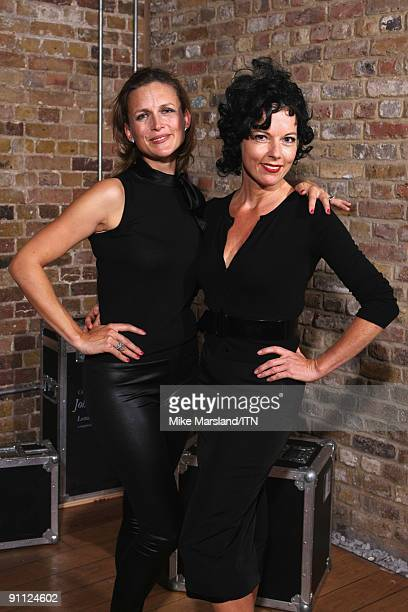 Katie Derham and Mary Nightingale of the BBC news team pose after their performance at the 'Newsroom�s Got Talent' event held in aid of Leonard...