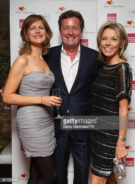 LONDON ENGLAND SEPTEMBER 24 Katie Derham Piers Morgan and Mary Nightingale attend the 'Newsroom�s Got Talent' event held in aid of Leonard Cheshire...