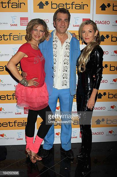 Katie Derham Steve Scott and Mary Nightingale from ITV News during a portrait session at Betfair's 'Newsroom's Got Talent' which raises funds for...