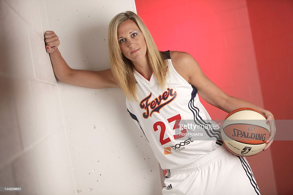 Katie Douglas #23 of the Indiana Fever poses for a portrait during the Indiana Fever Media Day at Bankers Life Fieldhouse on May 7, 2010 in Indianapolis, Indiana.