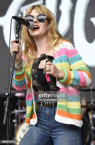 Katie Earl of The Mowgli's performs during the ID10T Festival at Shoreline Amphitheatre on June 24 2017 in Mountain View California