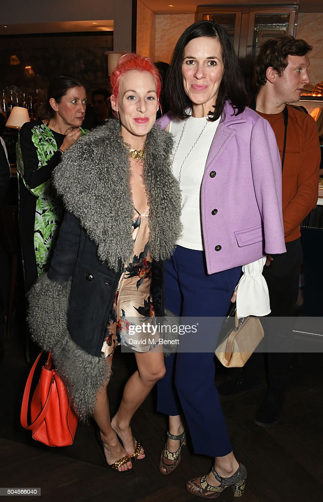 Katie Eary and Claire Neate attend the London Collections Men AW16 closing dinner hosted by GQ editor Dylan Jones and LCM Ambassadors at Sartoria on...