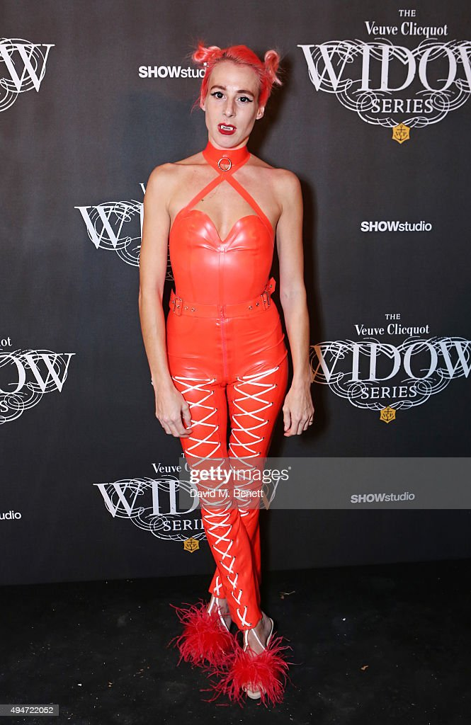 Katie Eary attends the Veuve Clicquot Widow Series 'A Beautiful Darkness' curated by Nick Knight and SHOWstudio on October 28 2015 in London England