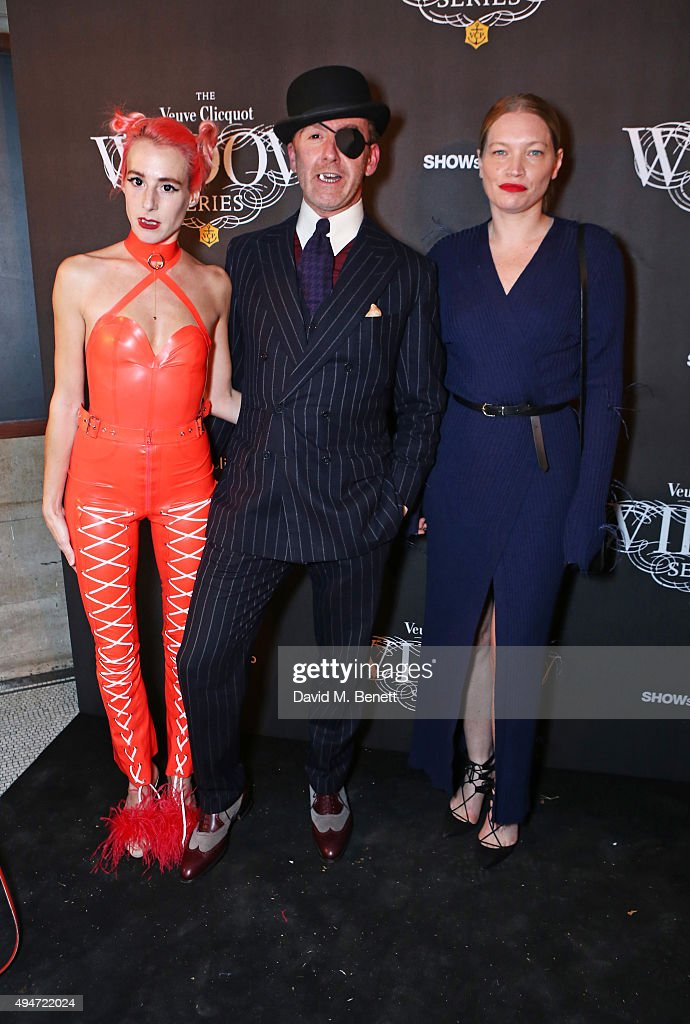 Katie Eary Tom Stubbs and Sara Gilmour attend the Veuve Clicquot Widow Series 'A Beautiful Darkness' curated by Nick Knight and SHOWstudio on October...