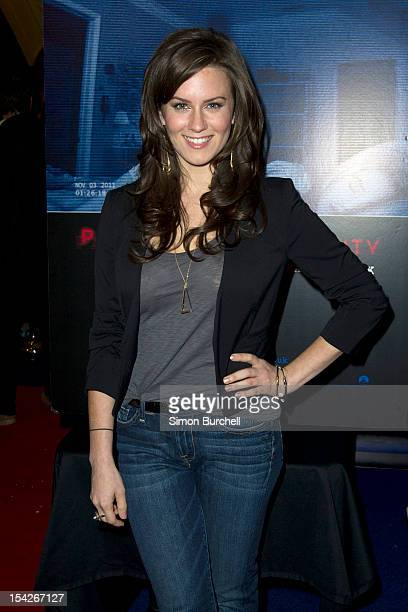 Katie Featherston attends a screening of 'Paranormal Activity 4' at Cineworld Haymarket on October 16 2012 in London England