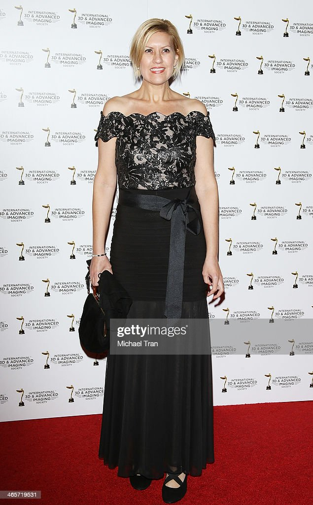 Katie Fico arrives at the 2014 International 3D and Advanced Imaging Society's Creative Arts Awards held at Steven J. Ross Theatre on January 28, 2014 in Burbank, California.