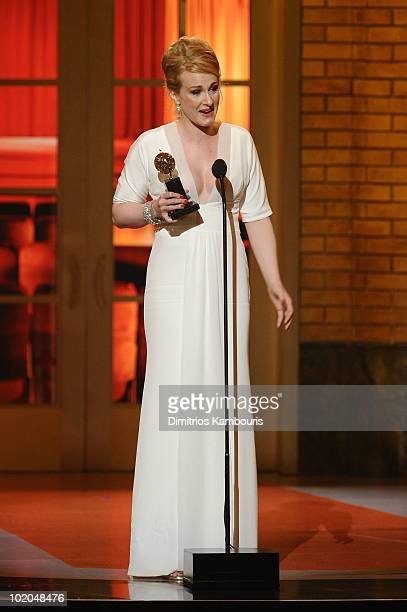 Katie Finneran accepts her award onstage during the 64th Annual Tony Awards at Radio City Music Hall on June 13 2010 in New York City