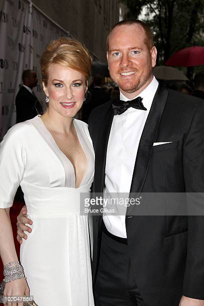 Katie Finneran and Darren Goldstein attend the 64th Annual Tony Awards at Radio City Music Hall on June 13 2010 in New York City
