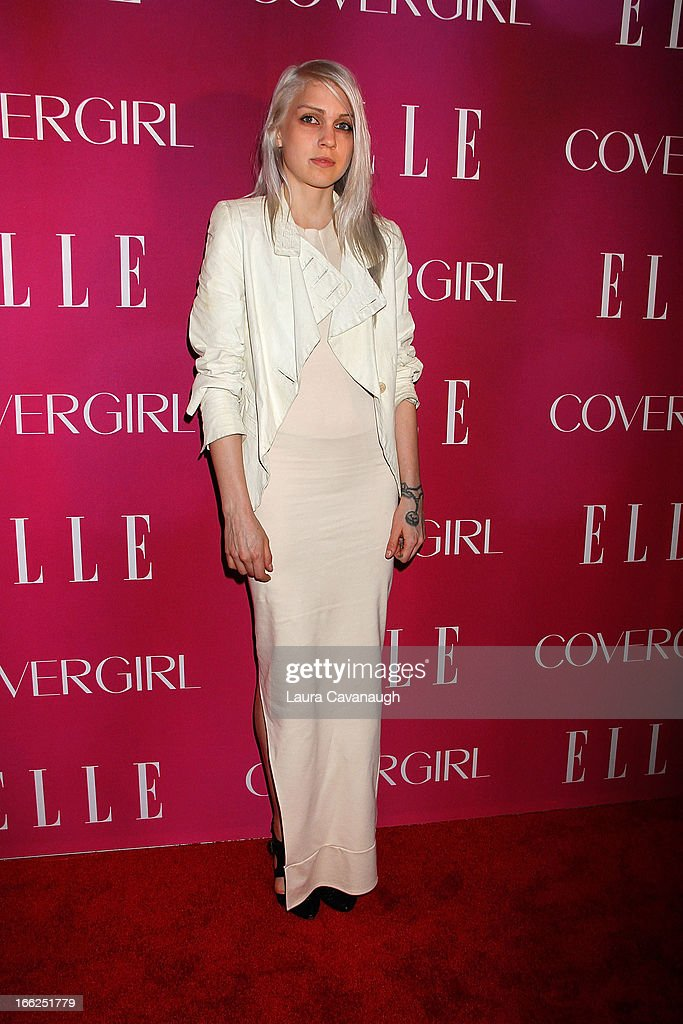 Katie Gallagher attends the 4th annual ELLE Women in Music Celebration at The Edison Ballroom on April 10, 2013 in New York City.