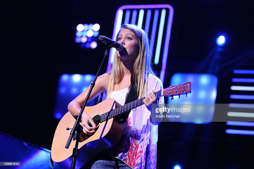 Katie Garfield performs during the We Day Minnesota event at the Xcel Energy Center in St. Paul, Minnesota on October 8, 2013