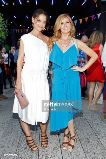 Katie Holmes and Connie Britton attend Summer Party on The Highline presented by Coach at High Line Park on June 11 2013 in New York City