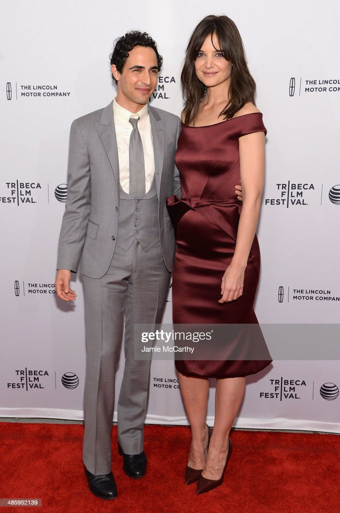 <a gi-track='captionPersonalityLinkClicked' href=/galleries/search?phrase=Katie+Holmes&family=editorial&specificpeople=201598 ng-click='$event.stopPropagation()'>Katie Holmes</a> (R) and designer <a gi-track='captionPersonalityLinkClicked' href=/galleries/search?phrase=Zac+Posen+-+Fashion+Designer&family=editorial&specificpeople=4442066 ng-click='$event.stopPropagation()'>Zac Posen</a> attend the 'Miss Meadows' Premiere during 2014 Tribeca Film Festival at the SVA Theater on April 21, 2014 in New York City.