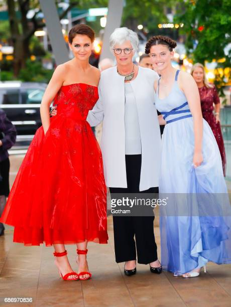 Katie Holmes and her mother Kathleen Holmes arrive at the opening night of American Ballet Theater in New York