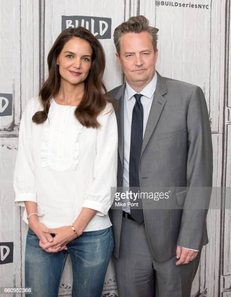 Katie Holmes and Matthew Perry attend Build Series to discuss 'The Kennedys After Camelot' at Build Studio on March 30 2017 in New York City