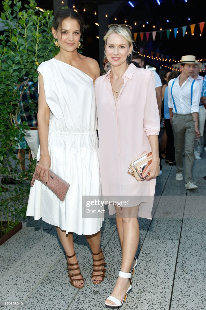 Katie Holmes and Naomi Watts attend Summer Party on The Highline presented by Coach at High Line Park on June 11 2013 in New York City