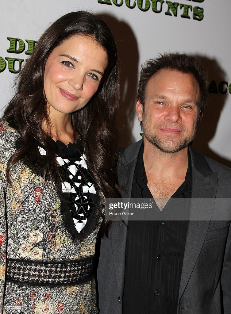 <a gi-track='captionPersonalityLinkClicked' href=/galleries/search?phrase=Katie+Holmes&family=editorial&specificpeople=201598 ng-click='$event.stopPropagation()'>Katie Holmes</a> and <a gi-track='captionPersonalityLinkClicked' href=/galleries/search?phrase=Norbert+Leo+Butz&family=editorial&specificpeople=206859 ng-click='$event.stopPropagation()'>Norbert Leo Butz</a> pose at the Opening Night After-party for 'Dead Accounts' on Broadway at Gotham Hall on November 29, 2012 in New York City.