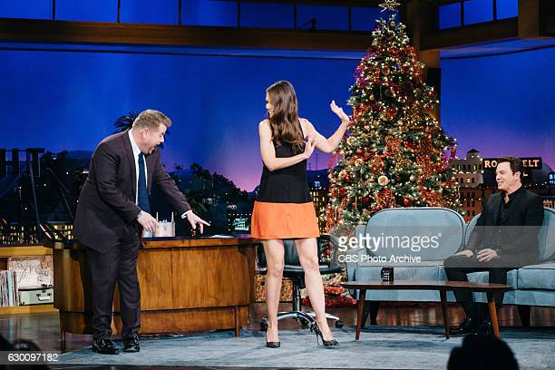 Katie Holmes and Seth MacFarlane chat with James Corden during 'The Late Late Show with James Corden' Thursday December 15 2016 On The CBS Television...