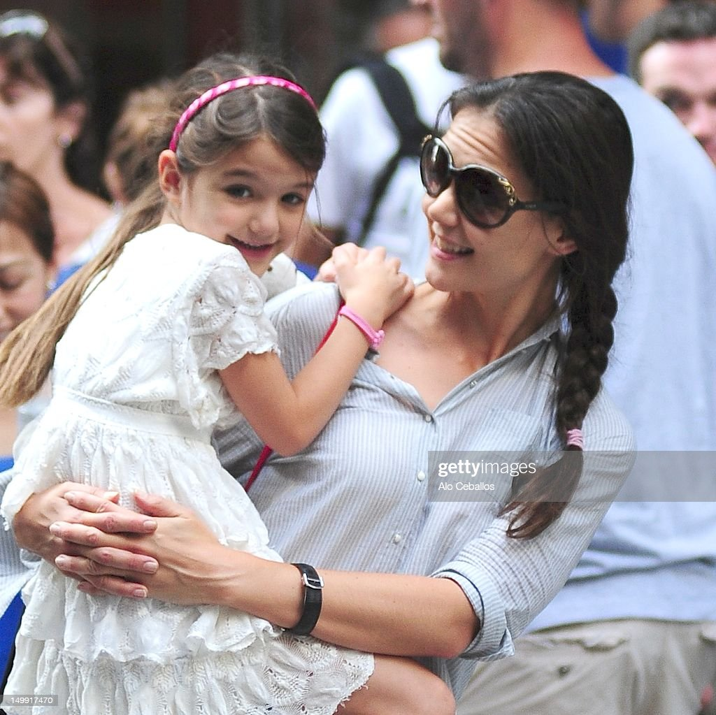 Katie Holmes And Suri Cruise Sighting In New York City - August 6, 2012